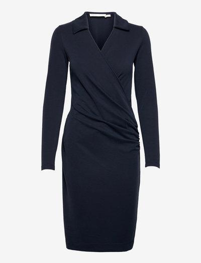 VedaIW Collar Dress - cocktail-kjoler - marine blue