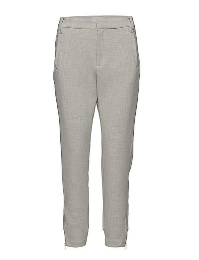 Nica Double Weave Pant HW - LIGHT GREY MELANGE