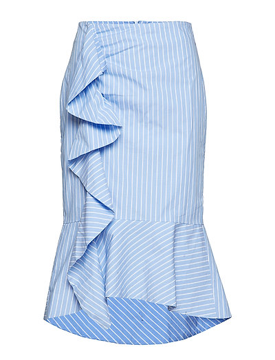 Rachelle Skirt LW - YARN DYED BLUE STRIPES