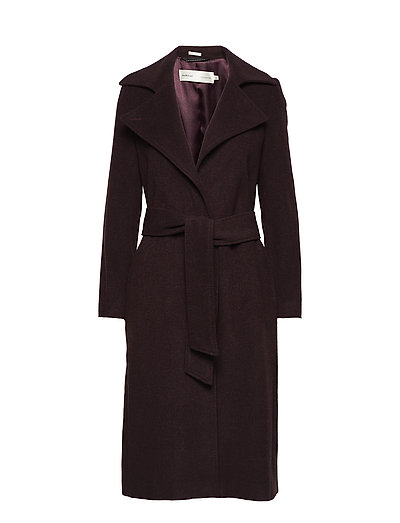Sai Belted Coat Long - WINETASTING
