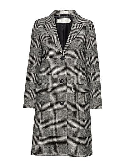 Sage Classic Coat - WHITE SMOKE / BLACK
