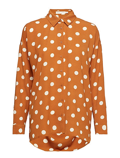 Zibi Hattie Shirt - ROASTED PECAN POLKA DOT