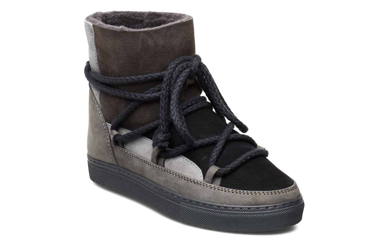 Inuikii Women Sneaker Patchwork - DARK GREY