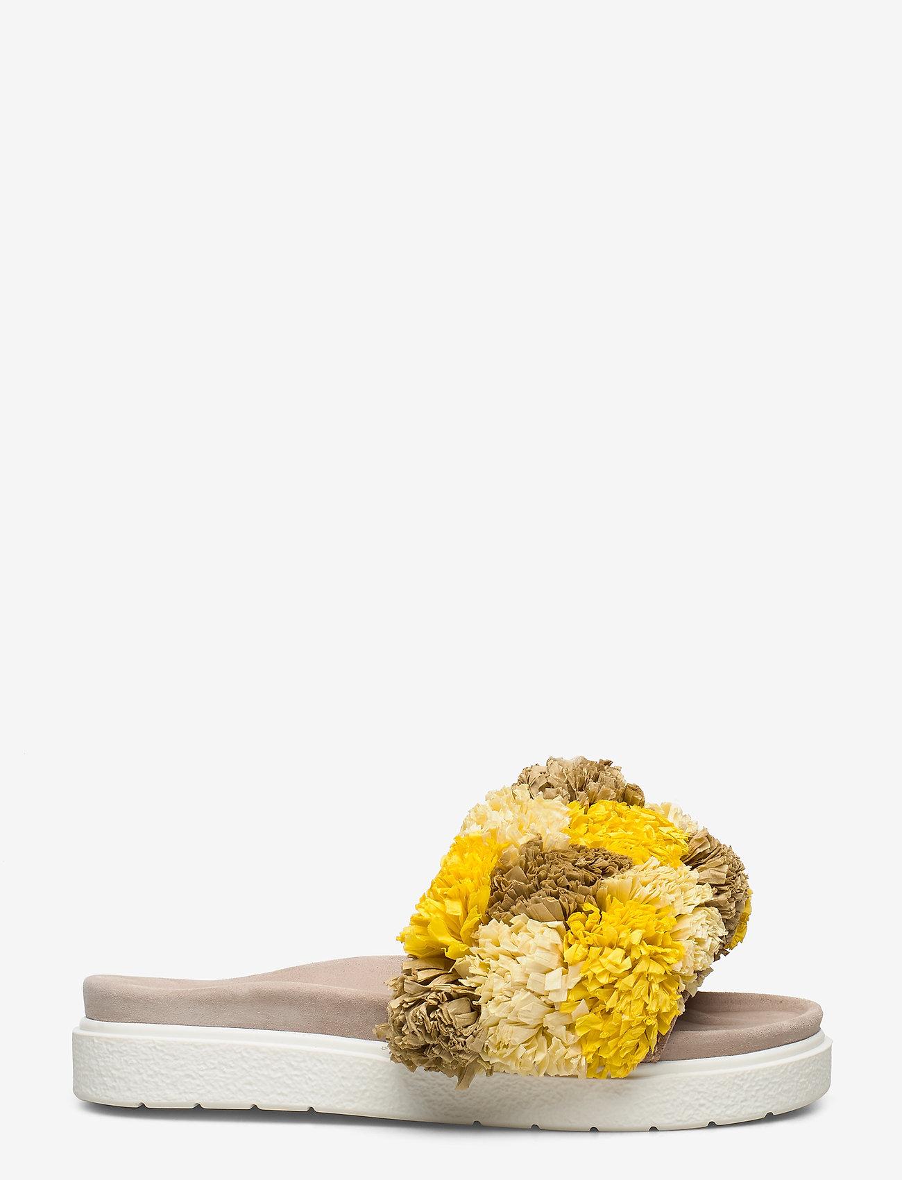 Inuikii - INUIKII Slipper Grass Band - matalat sandaalit - yellow beige