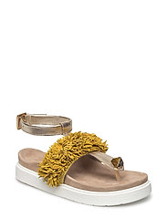 Sandal Ankle fringes - YELLOW