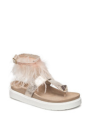 Sandal Ankle feathers - POWDER
