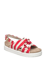 Sandal stripes - RED