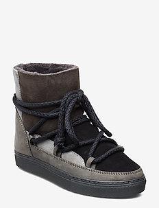 Women Sneaker Patchwork - DARK GREY