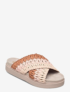 KNITTED CROSSED - schuhe - rose