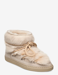 INUIKII Sneaker Toskana - flate ankelstøvletter - beige