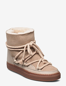 INUIKII Sneaker Classic - flate ankelstøvletter - beige