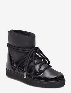 INUIKII Sneaker Gloss - flate ankelstøvletter - black