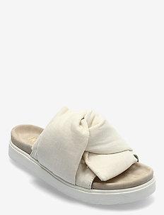 KNOT LINO - flache sandalen - off-white