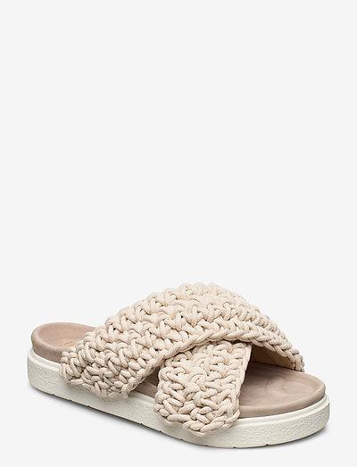 Slipper Woven - platte sandalen - white