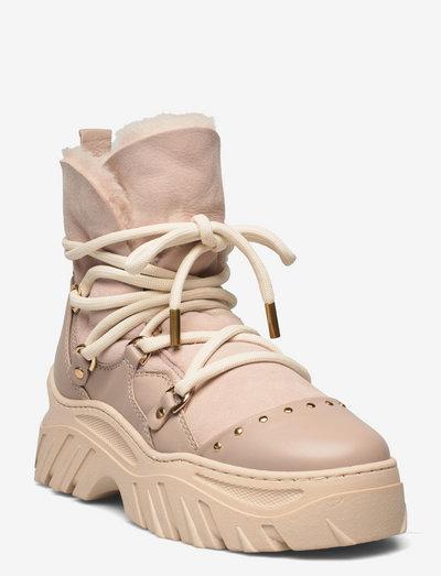 Trekking Plain - flat ankle boots - beige