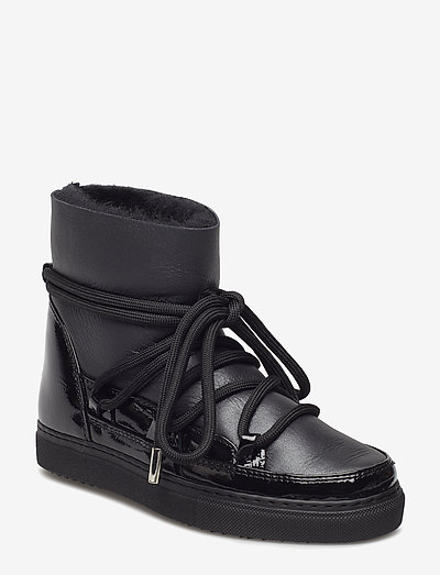 INUIKII Sneaker Gloss - flat ankle boots - black