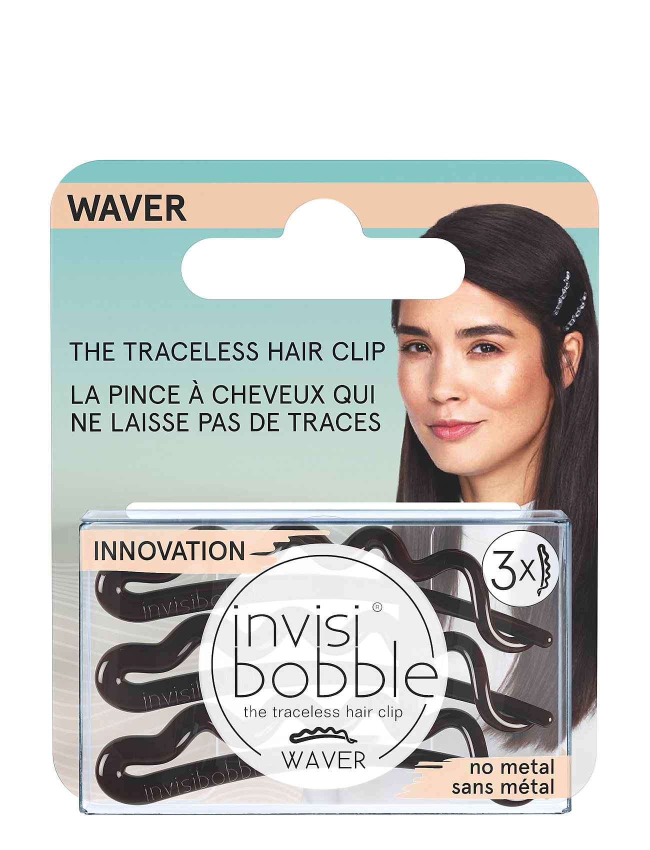 Invisibobble invisibobble WAVER Pretty Dark hanging pack - CLEAR