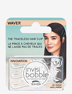 invisibobble WAVER Crystal Clear hanging pack - hiuspinnit & -klipsit - clear
