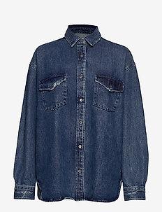 DELLY - denimskjorter - denim blue