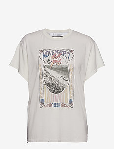 LYNX - t-skjorter med trykk - cloudy white