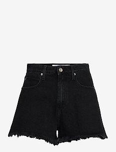 OLNAY - jeansshorts - black stone