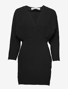 DETINA - slå-om-kjoler - black