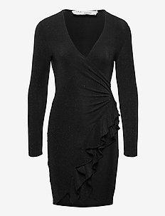 HIME - slå-om-kjoler - black lurex