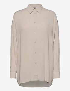 MIX - langærmede skjorter - stone grey