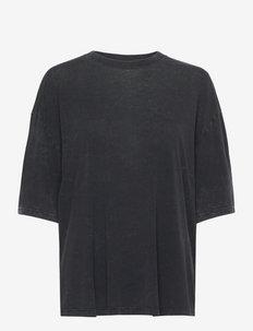 POLANE - t-shirts - black/grey