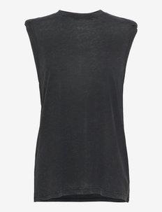 POLETTE - ermeløse topper - black/grey