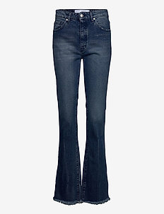 NABO - flared jeans - anthracite