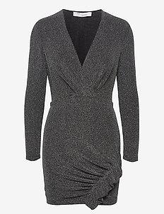 NOIZE - slå-om-kjoler - black