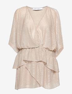 WIDE - slå-om-kjoler - beige