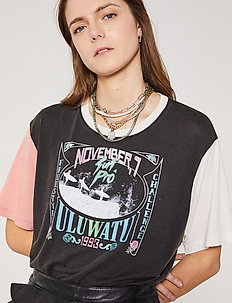 LYNX - t-shirts med tryk - black/pink