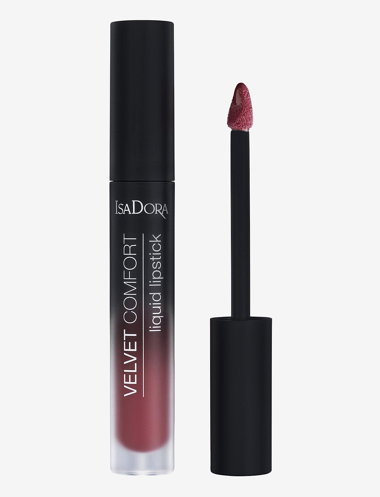 Isadora - Velvet Comfort Liquid Lipstick Red Plum - liquid lipstick - red plum - 1