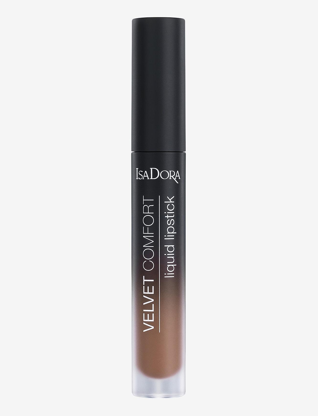 Isadora - Velvet Comfort Liquid Lipstick Cool Brown - liquid lipstick - cool brown - 0
