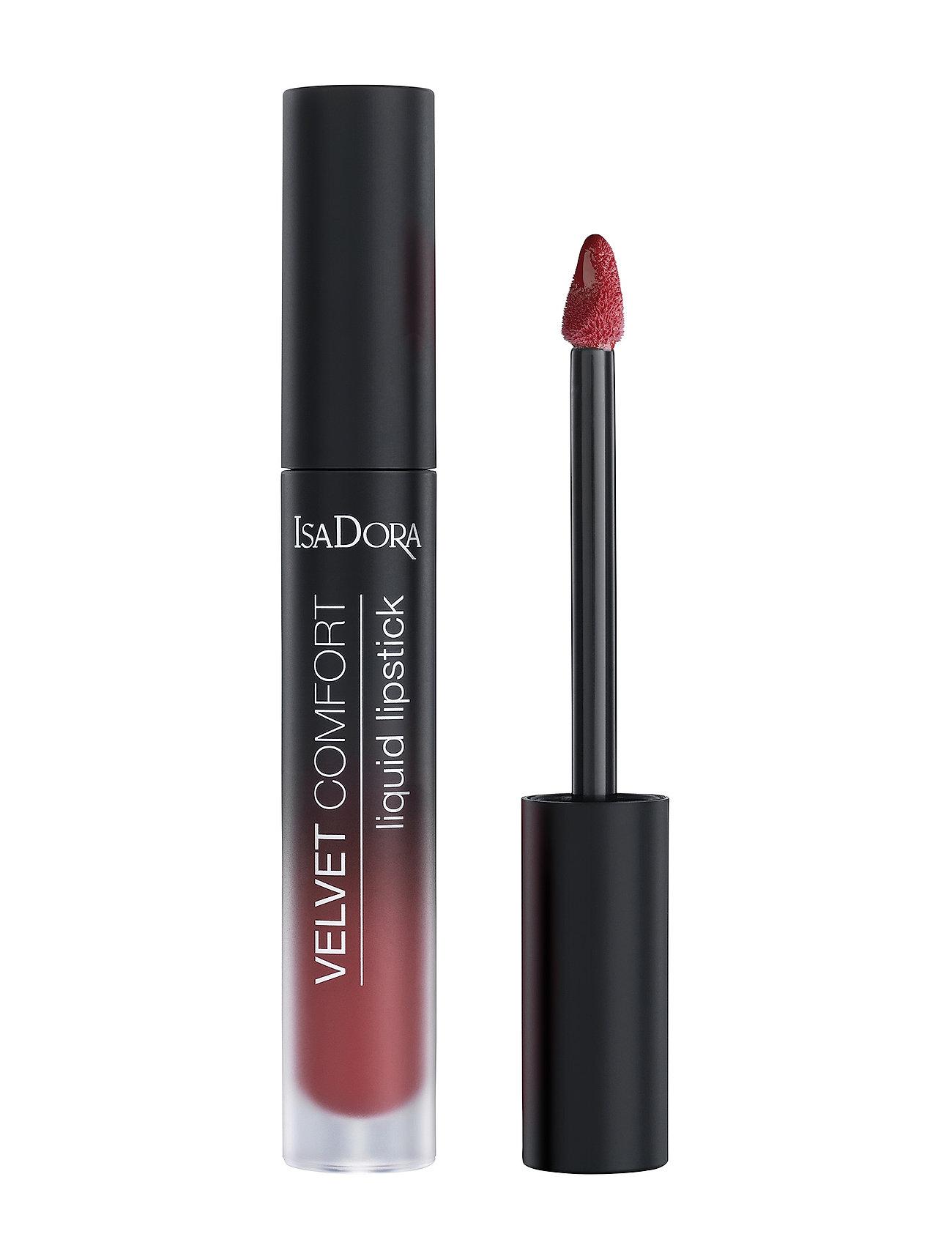 Isadora - Velvet Comfort Liquid Lipstick Deep Rose - liquid lipstick - deep rose - 1