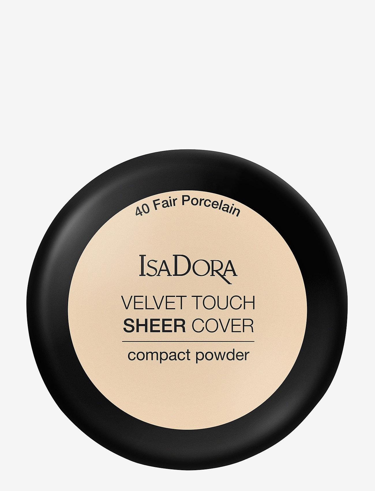 Isadora - Velvet Touch Sheer Cover Compact Powder - puder - fair porcelain - 1