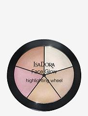Isadora - FACE GLOW HIGHLIGTING WHEEL751 CHAMPAGNE GLOW - highlighter - 751 champagne glow - 0