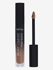 Isadora - Velvet Comfort Liquid Lipstick Cool Brown - liquid lipstick - cool brown - 1