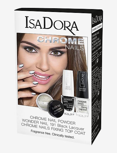 GIFT SET CHROME NAIL POWDER,MIRROR&TOP COAT - makeupsæt - no color