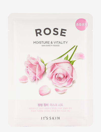 It´S SKIN The Fresh Mask Sheet Rose - sheet mask - clear