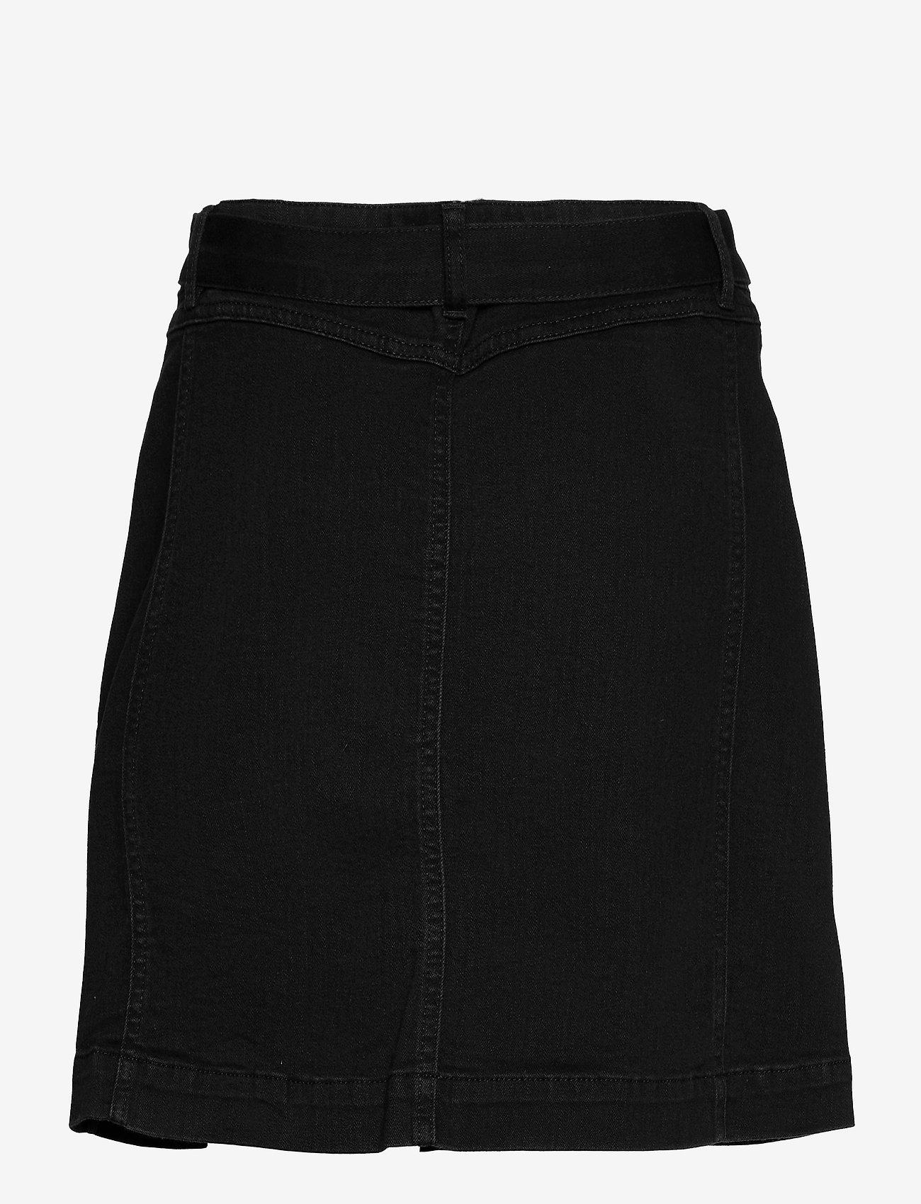 IVY Copenhagen - Freja Worker Skirt Wash Soft Black - jeanskjolar - black - 1