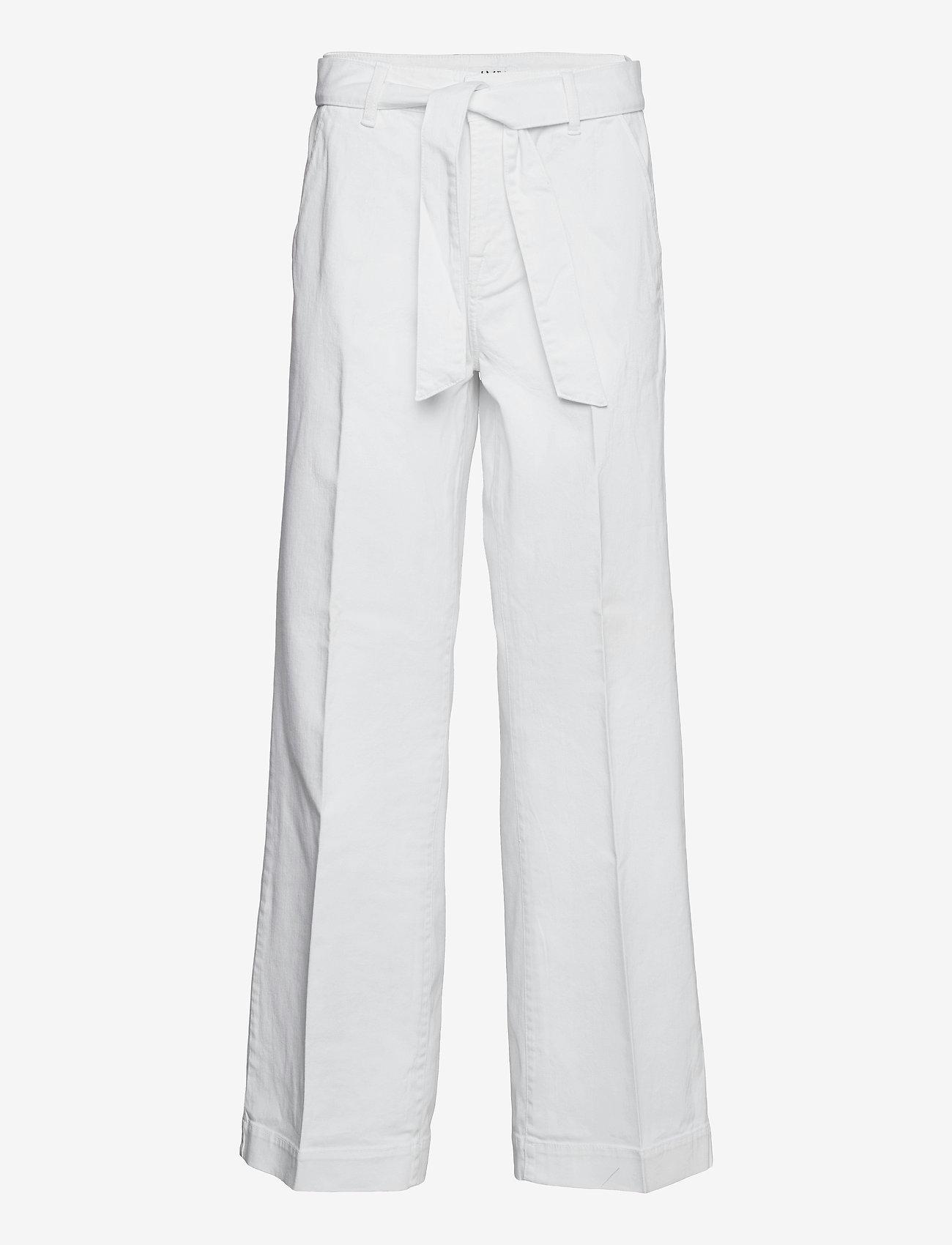 IVY Copenhagen - Augusta flare optical white - bukser med brede ben - white - 0