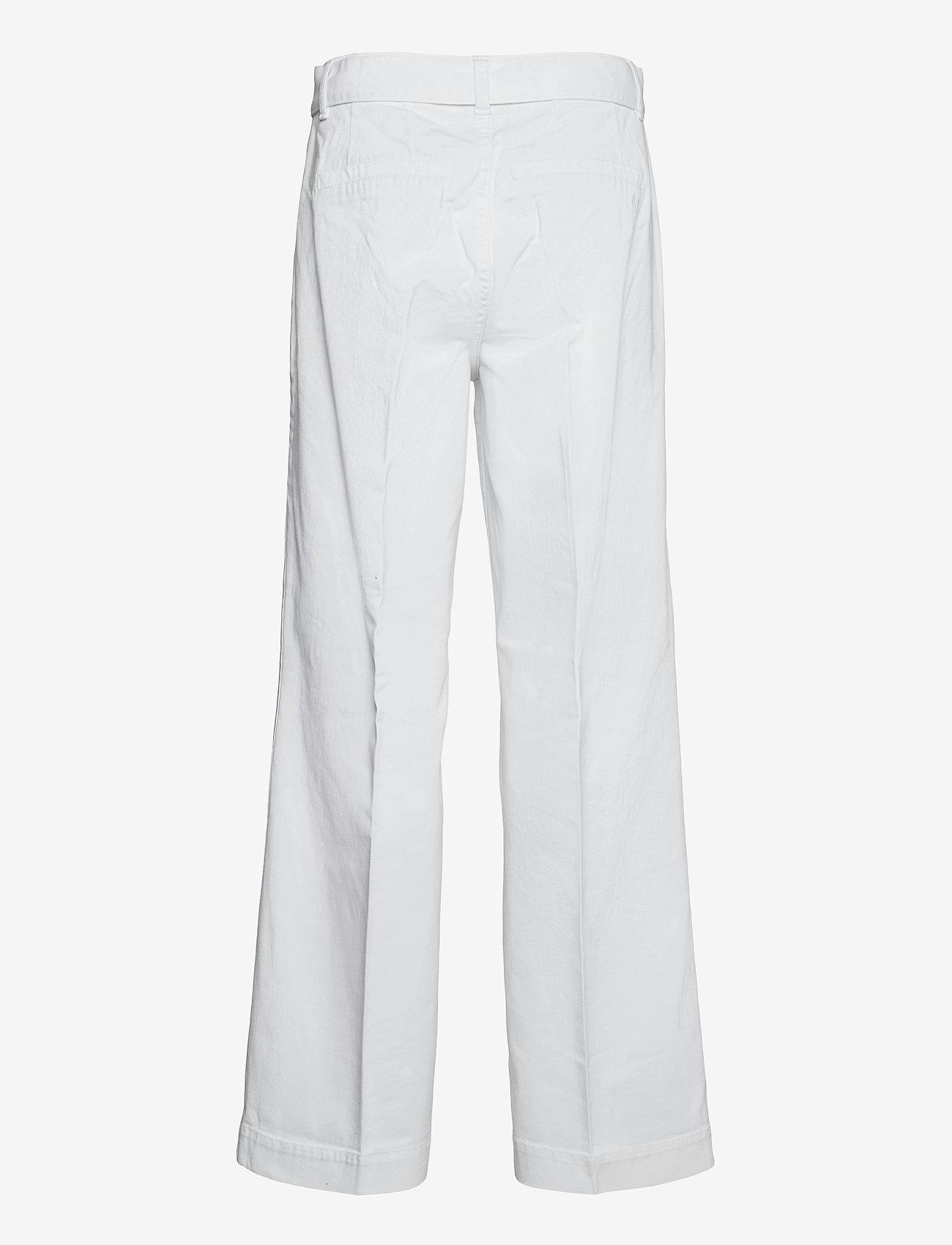 IVY Copenhagen - Augusta flare optical white - bukser med brede ben - white - 1