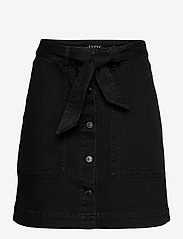 IVY Copenhagen - Freja Worker Skirt Wash Soft Black - jeanskjolar - black - 0