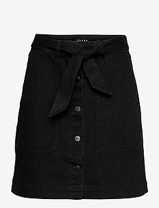 Freja Worker Skirt Wash Soft Black - jeanskjolar - black