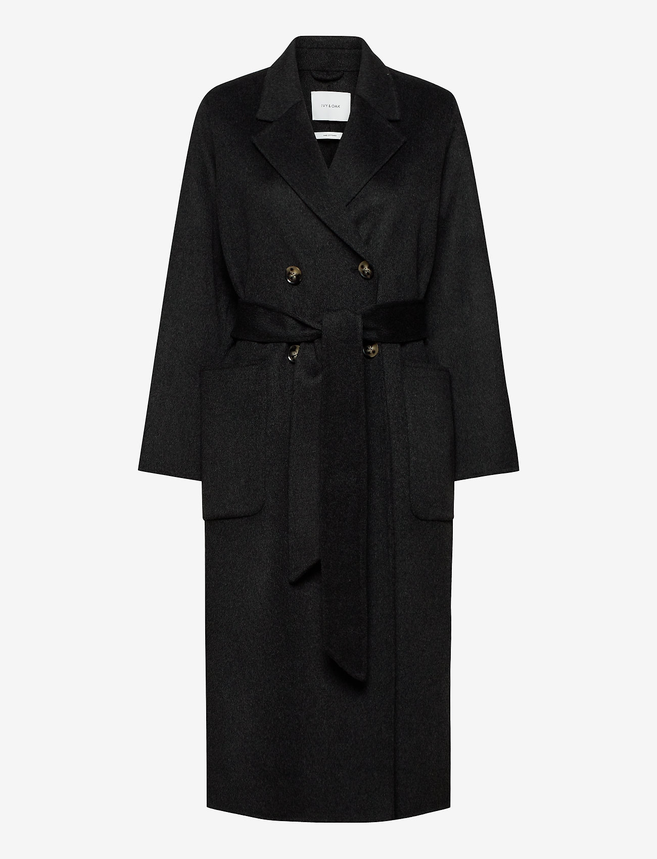 Ivy & Oak - DOUBLE BREASTED COAT - wollen jassen - anthracite - 0