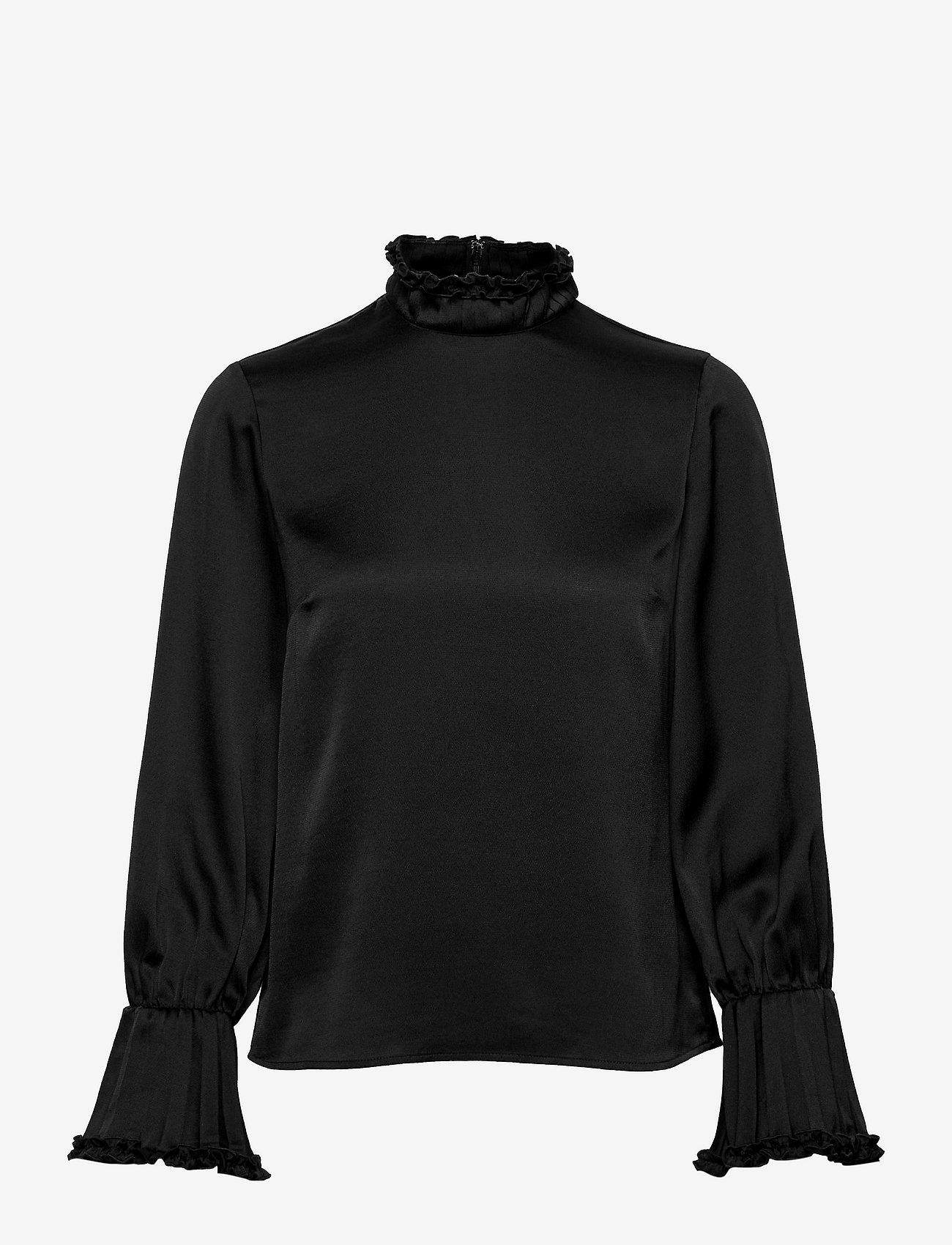 Ivy & Oak - LOBIVIA - long sleeved blouses - black - 0