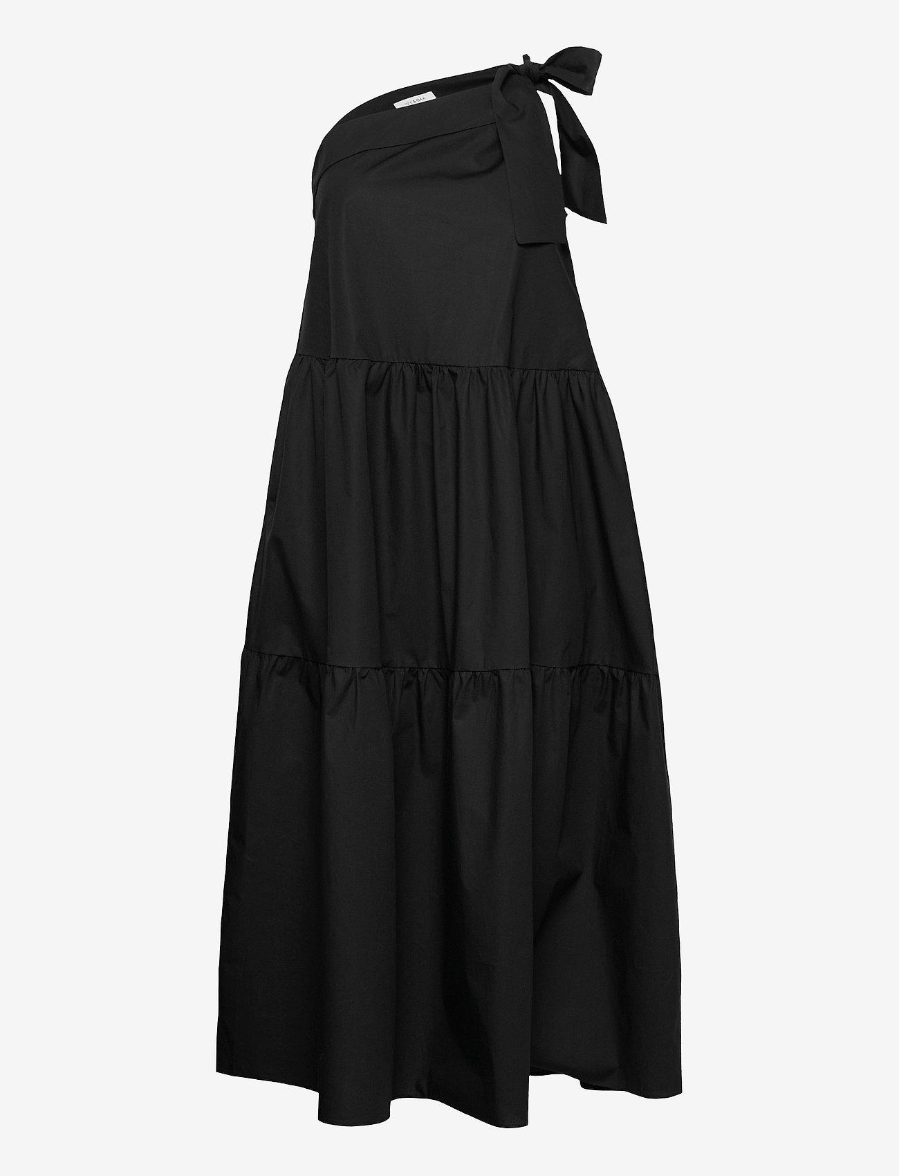 Ivy & Oak - ONE SHOULDER DRESS MAXI LENGHT - sommerkjoler - black - 0